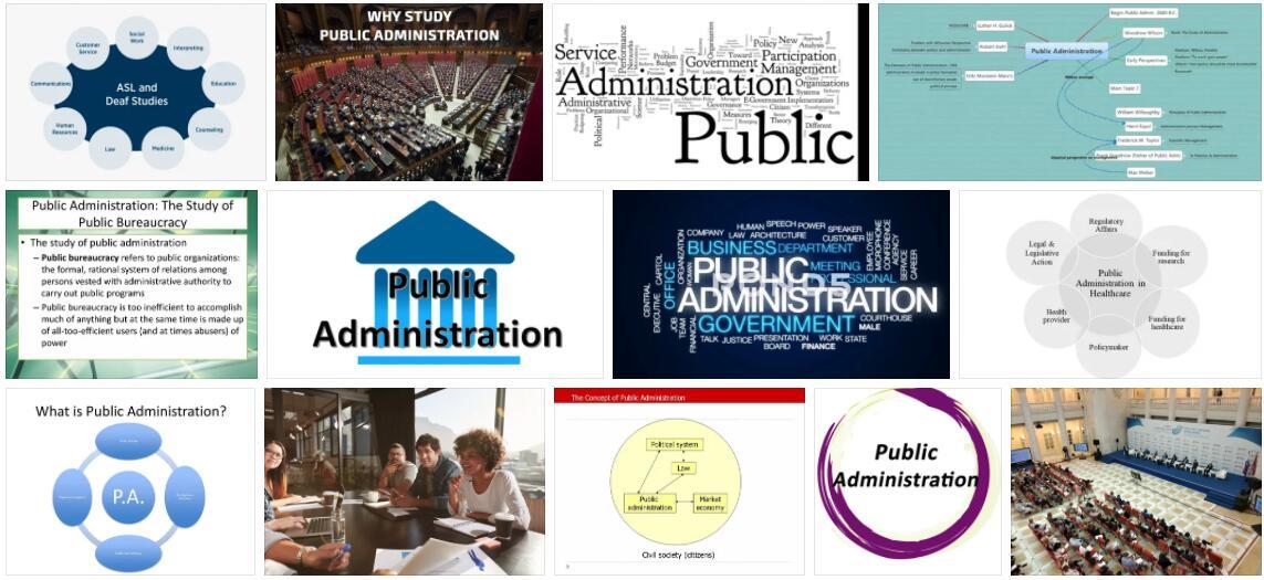 Study Public Administration