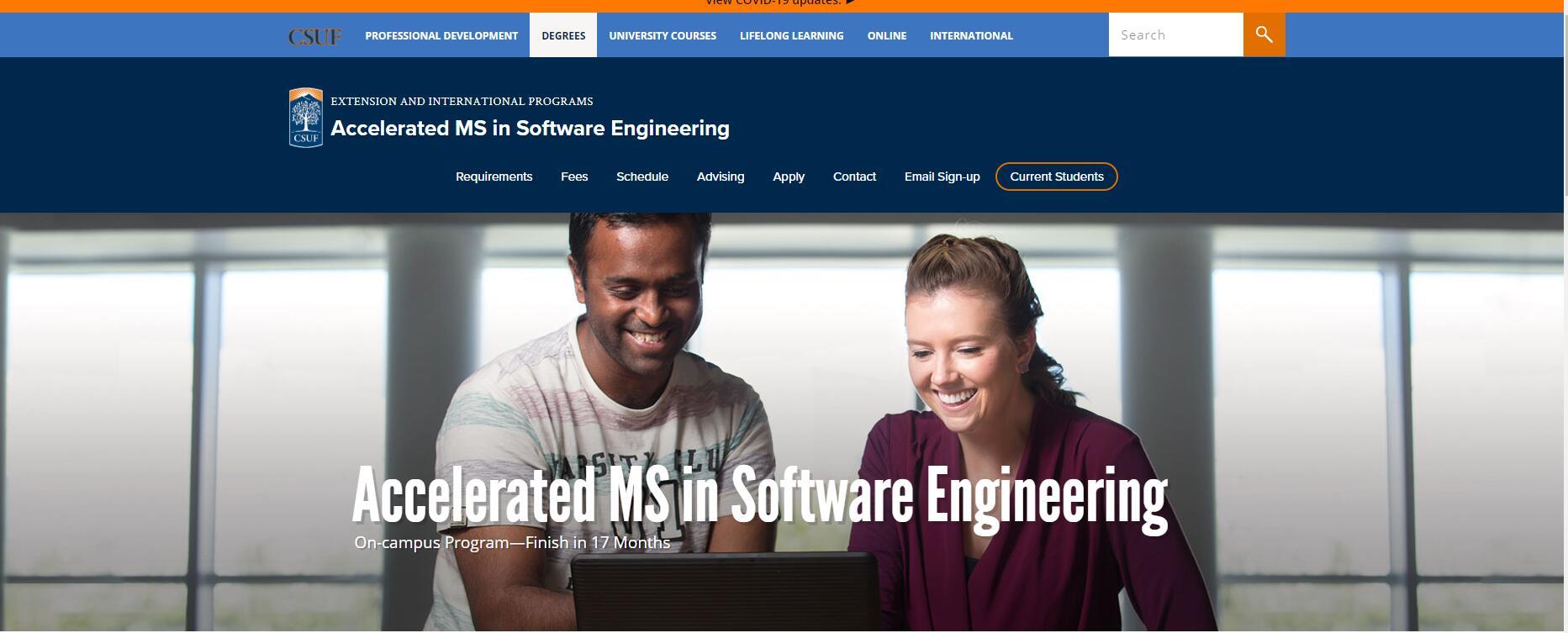 CSU Fullerton Software Engineering