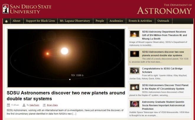 Department of Astronomy - San Diego State University