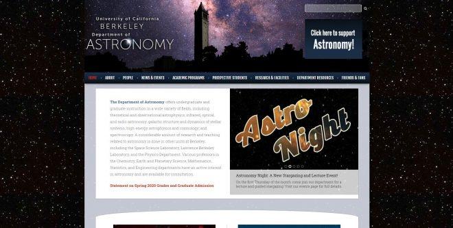 University of California, Berkeley Astronomy Department